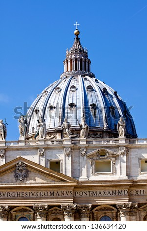 St. Peter's Basilica, Saint Peter cathedral.   Vatican City.