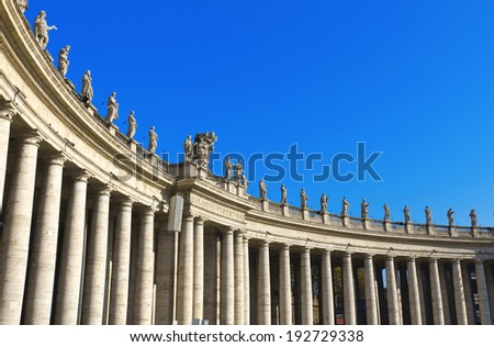 St. Peter's Basilica, St. Peter's Square, Vatican City. Rome  - stock photo