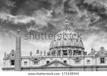 St. Peter's Basilica, Vatican, Rome. - stock photo