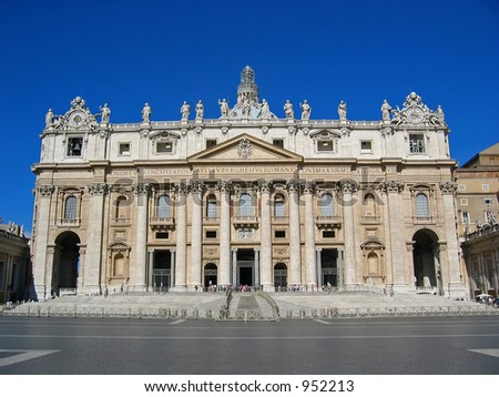 St Peter's Cathedral at Vatican City, Italy