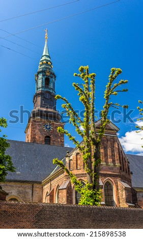 St. Peter's Church in Copenhagen, Denmark - stock photo