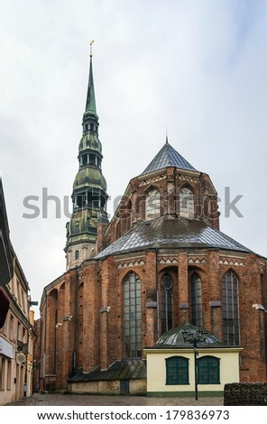 St. Peter's Church is a Lutheran church in Riga, the capital of Latvia, dedicated to Saint Peter.