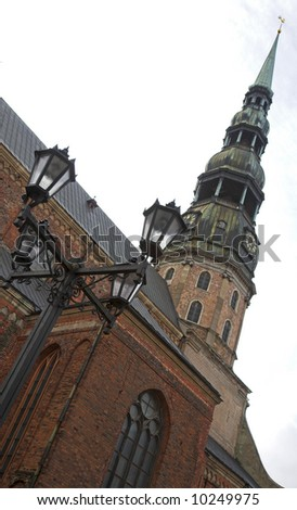 St. Peter's Church, Riga, Latvia - stock photo