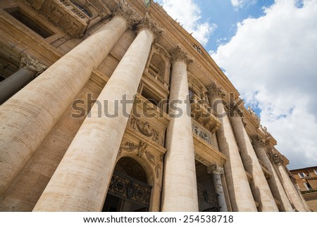 St Peter's Square in Vatican City, Rome - stock photo