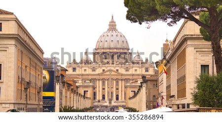 St, Peters basilica, Rome, Vatican, Italy - stock photo