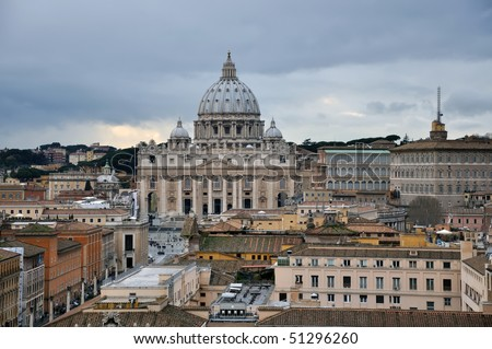 St. Peters Basillica in Vatican, Rome, Italy - stock photo