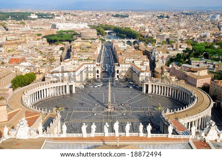 St Peters Square - stock photo