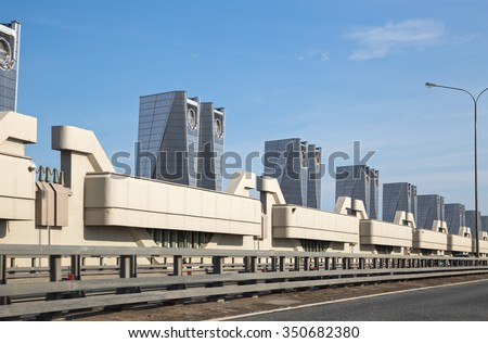 St. Petersburg Flood Prevention Facility Complex, water gate - stock photo