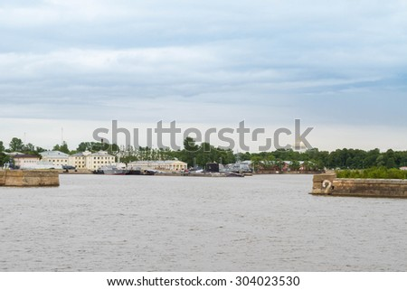 St. Petersburg, Kronshtadt, Russia, July 12, 2015. FORTS in the city of Kronstadt.