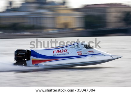 ST.PETERSBURG, RUSSIA - AUGUST 08: Formula 1 Powerboat World Championship race on August 08, 2009 in St.Petersburg, Russia.