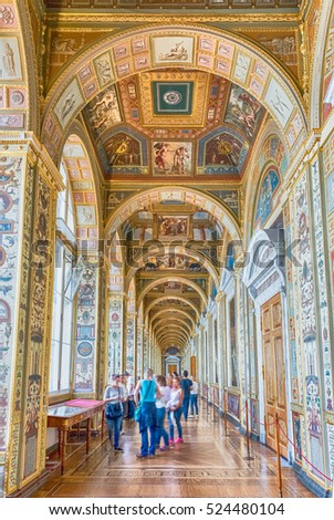 ST. PETERSBURG, RUSSIA - AUGUST 27: Raphael Loggias, Hermitage Museum in St. Petersburg, Russia, August 27, 2016. Hermitage is one of the largest museums of art in the world