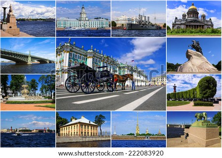 St. Petersburg. Russia (collage) - stock photo