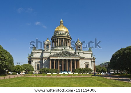 St. Petersburg, Russia - July 03, 2012: cathedral of St. Isaak (Isaakievskiy).