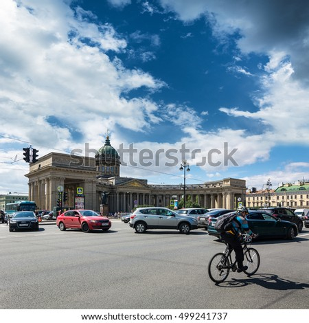 ST. PETERSBURG, RUSSIA - JULY 14, 2016: Kazan Cathedral in St.Petersburg, Russia