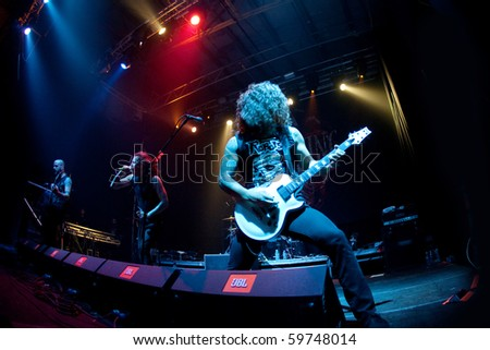"ST.-PETERSBURG, RUSSIA - JUNE 22: GROUP ""As i lay Dying"" in concert on June 22, 2010 in St Petersburg, Russia"