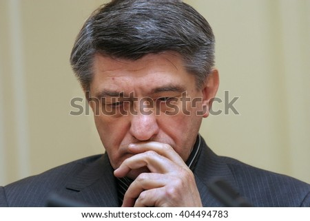 ST. PETERSBURG, RUSSIA - November 19, 2007: Famous Russian film director Aleksandr Sokurov on the press-conference