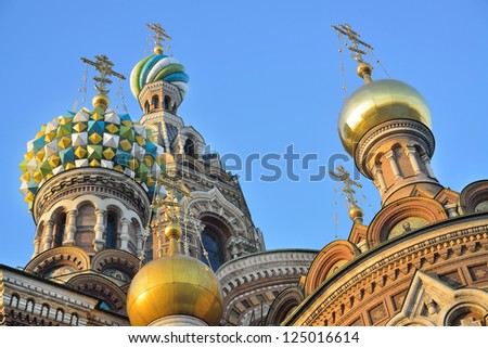 """St. Petersburg, Russia, Orthodox Church """"Spas at blood"""" - stock photo"""
