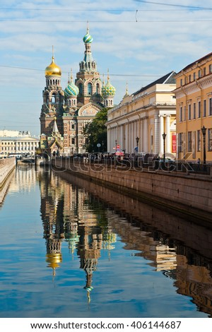 ST. PETERSBURG, RUSSIA - SEPTEMBER 13, 2015: The Church of the Savior on Spilled Blood (Spasa na Krovi)