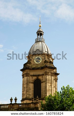 St Philip's Cathedral tower, Birmingham, England, UK - stock photo