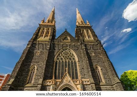 St's Paul Cathedral - Melbourne , Victoria , Australia - stock photo
