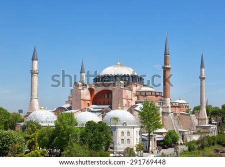 St. Sophia Cathedral , Istanbul, Turkey - stock photo