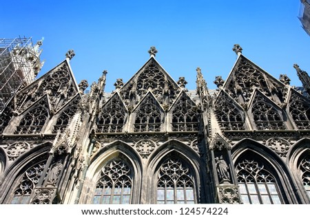 St.Stephan Cathedral (Stephansdom) in Vienna, Austria - stock photo