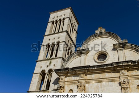 St Stephen's Cathedral at Hvar, Croatia - stock photo