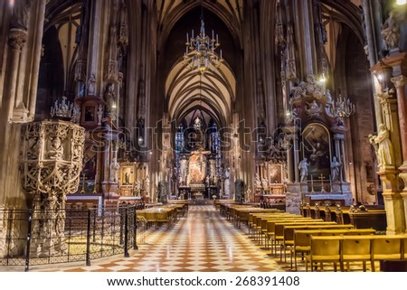 St Stephens Cathedral, Vienna, St. Stephan Cathedral, Steven, Austria - stock photo