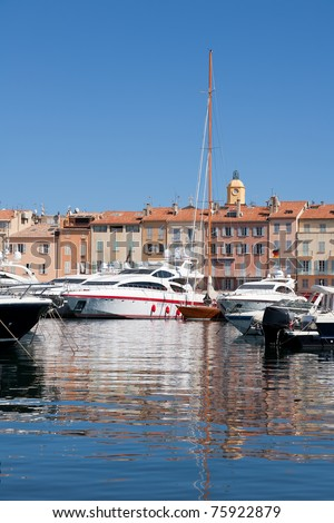 St Tropez, a famous luxury resort in French Riviera