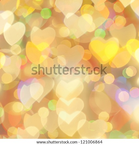 St. Valentine 's Day bokeh background, place for text - stock photo