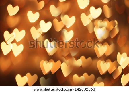 St Valentine's day greeting card with hearts - stock photo