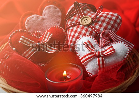 St Valentine's decor, closeup
