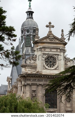 St. Vincent Church in Blois. Loire Valley France - stock photo