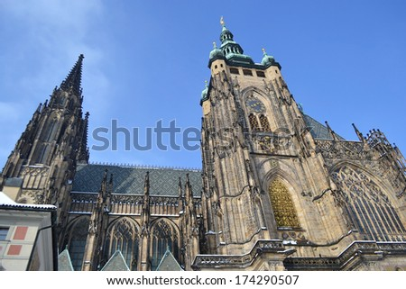 St. Vitus cathedral in Prague, Czech republic.