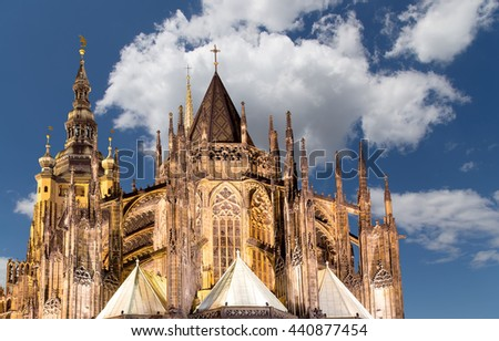 St. Vitus Cathedral (Roman Catholic cathedral ) in Prague Castle, Czech Republic