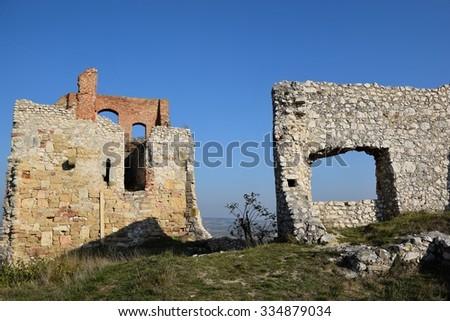Staatz castle ruins in Austria.  - stock photo