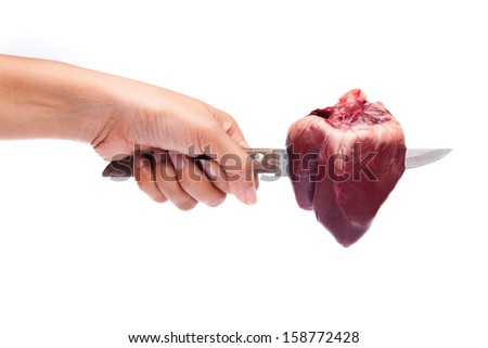 Stabbed Heart - stock photo