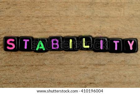 Stability Stock Photos... Word Stability