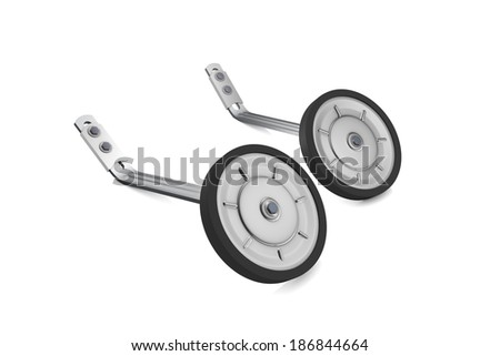 Stabilizer on a bicycle - stock photo