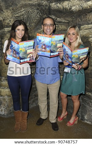 "Stacey Solomon, Theo Paphitis and Samantha Hewitt at the launch of Samantha's new ""Sea Urchins"" magazine, The London Aquarium, London. 20/11/2011  Picture by: Steve Vas / Featureflash"