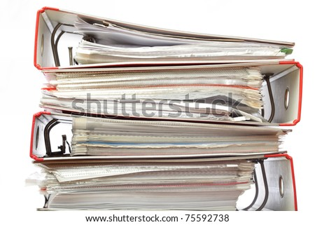 stack file Office folder on white background
