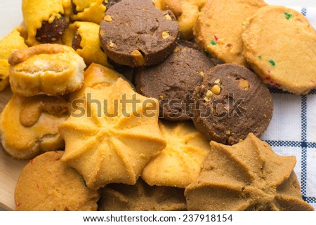 stack Mixed cookies - stock photo