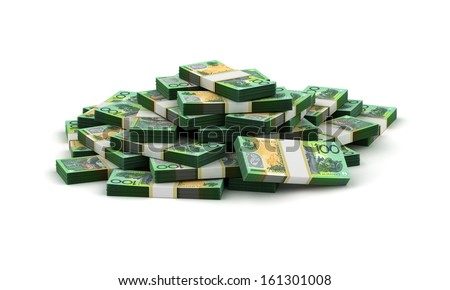 Stack of Australian Dollar - stock photo