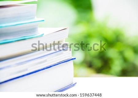 Stack of books / books - stock photo