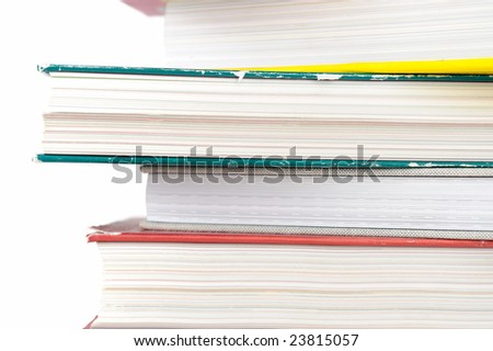 stack of books closeup