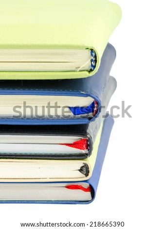 Stack of books on isolate background