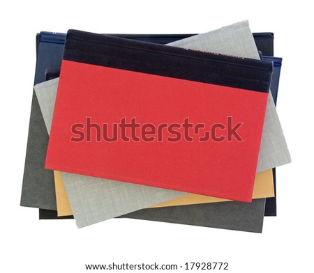 Stack of books viewed from above - stock photo