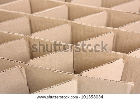 Stack of cardboard paper, geometry shape. - stock photo