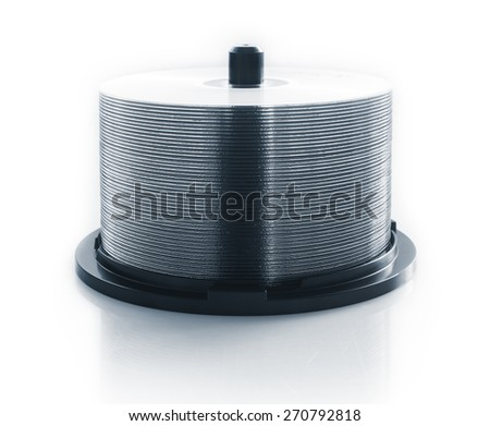 stack of CD - stock photo