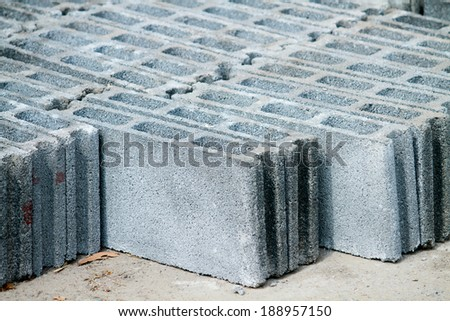Stack of cement block pathway